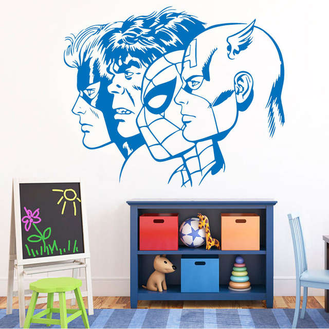 Online Shop Captain America Hulk Superhero Room Home Decor Wall