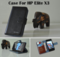 Caliente venta 7 colores alta calidad Flip moda de cuero genuino cubierta protectora del teléfono para HP Elite X3 Real caso de la piel
