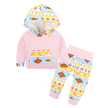 Spring Autumn Style Baby Clothing Sets Newborn Boys Girls Clothes With Hood Tops + Long Pants Leggings 2 pcs. outfits Set