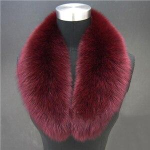 Image 4 - اللون الطبيعي الراكون الثعلب الفراء الحقيقي طوق وشاح حقيقية كبيرة الحجم الأوشحة الاعوجاج شال الرقبة أدفأ سرق Muffler مع كليب الحلقات #6