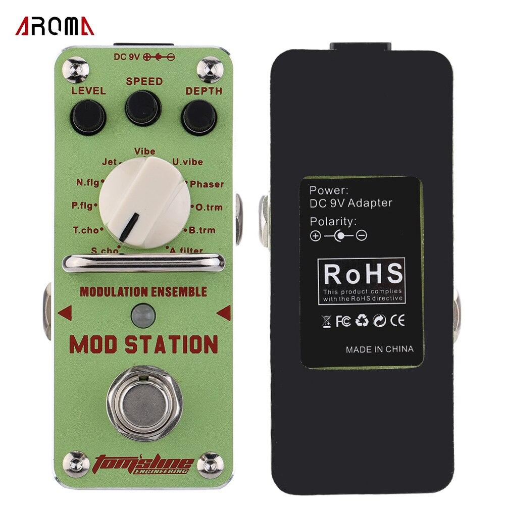 AROMA AMS 3 Mod Station Guitar Pedal Modulation Ensemble Electric Guitar Effect Pedal Mini Single Effect
