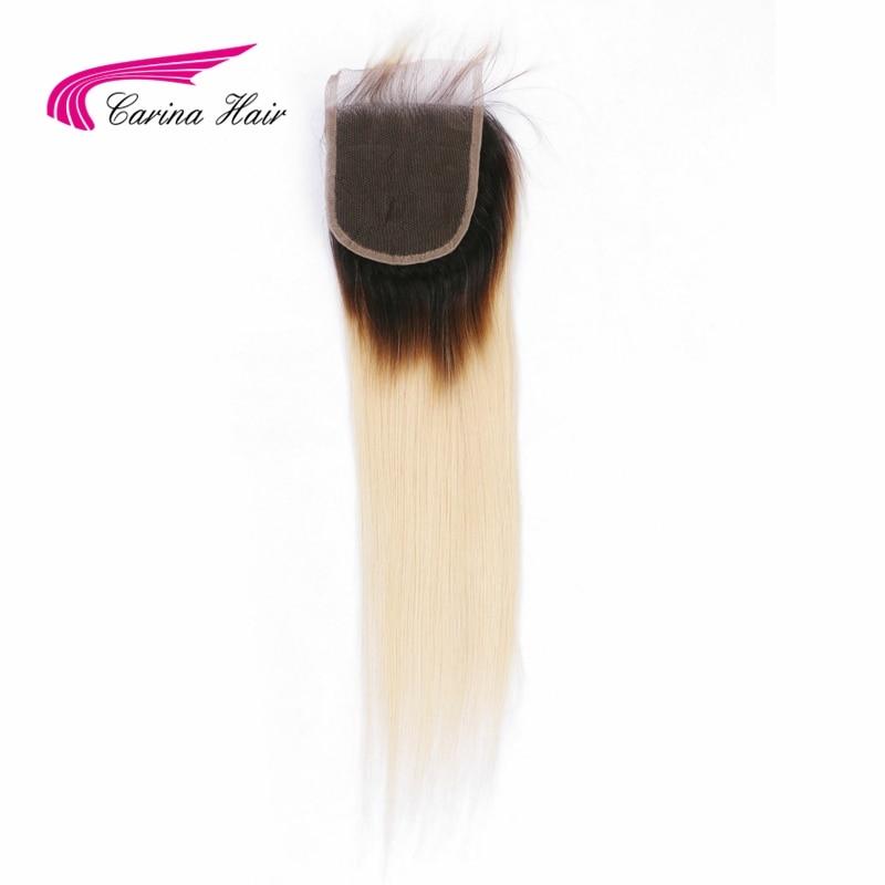 Carina Ombre flokë të drejtë flokëverdhë Dantella Zvicerane 4 * - Flokët e njeriut (të zeza) - Foto 3