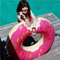 Inflatable Gigantic Doughnut Adult Swimming Ring Floating Row Pool Toy with Pump Water Game Pool Float toys for Adults 70-120CM