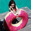 Rosquinha Anel Adulto Natação Linha Flutuante inflável Gigante Piscina Jogo Piscina Float brinquedos para Adultos Brinquedo com Bomba de Água 70-120 CM