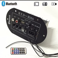 For Motorcycle\Car\Home 30W Amplifier Board Audio Bluetooth Amplificador USB dac FM radio TF Player Subwoofer DIY Amplifiers