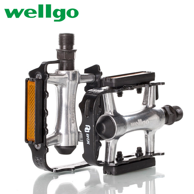 WELLGO M248DU Pedals Aluminum Alloy MTB Road Bike 100x63x24mm M21 Pedal Ultralight Mountain Bicycle Parts Bicycle