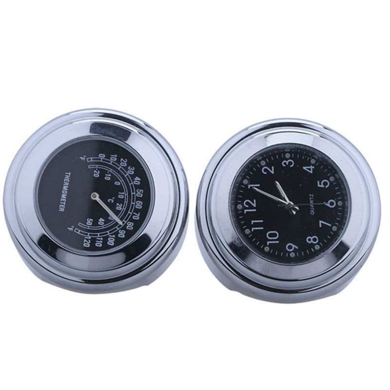 Universal Waterproof 7/8 Motorcycle Bike <font><b>Handlebar</b></font> Mount Clock Watch SV