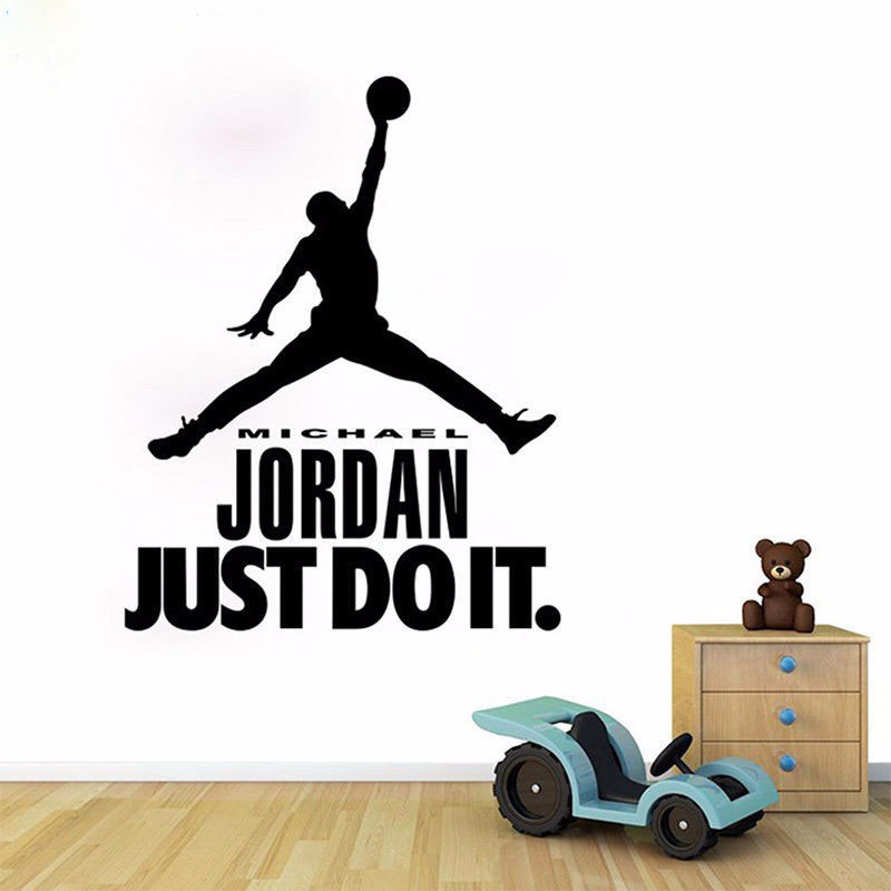 Michael Jordan Wall Decal Vinyl Sticker Home Decor   Boys Basketball Idol Wall  Murals   Boys Part 22