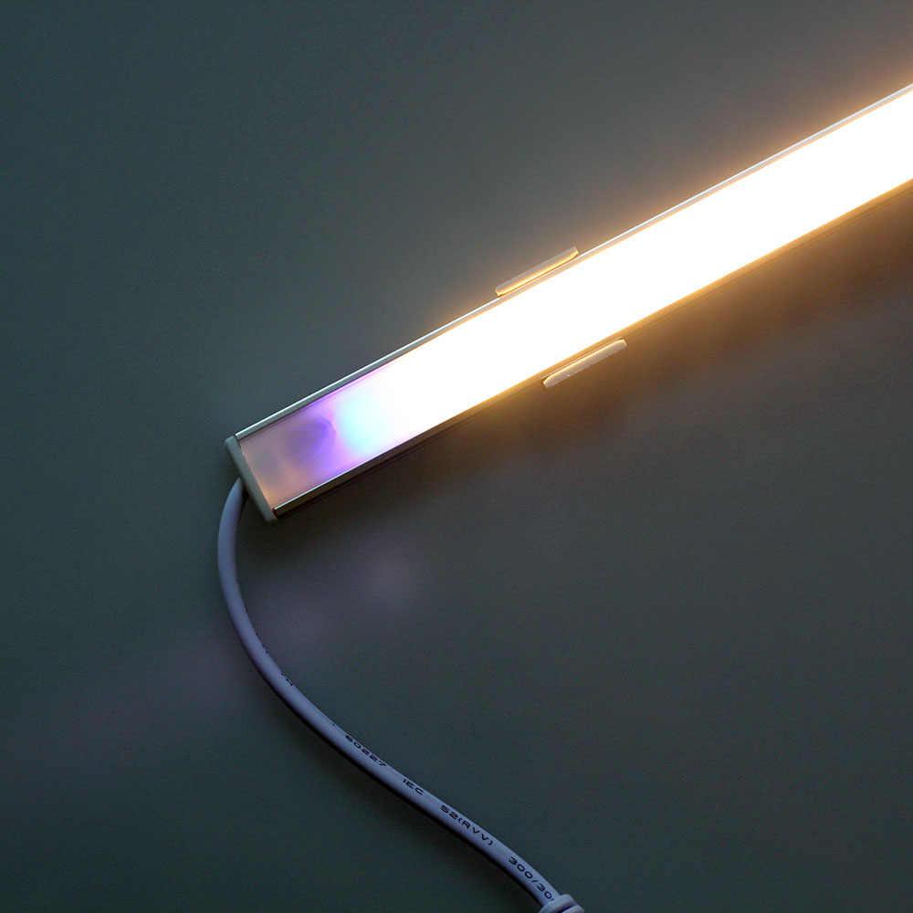4 шт * 50 см светодиодный сенсорный Сенсор бар фары ночные огни с регулируемой яркостью 36 светодиодный DC12V для шкафа с выдвижными ящиками для гардероба пробка для кухни/мебель для спальни
