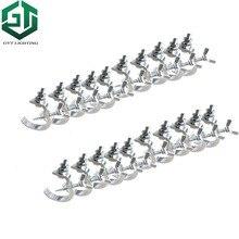 شحن سريع 20 قطعة/الوحدة عالية الجودة الألومنيوم المواد ضوء هوك 20 قطع led الاسمية تتحرك رئيس ضوء المشبك