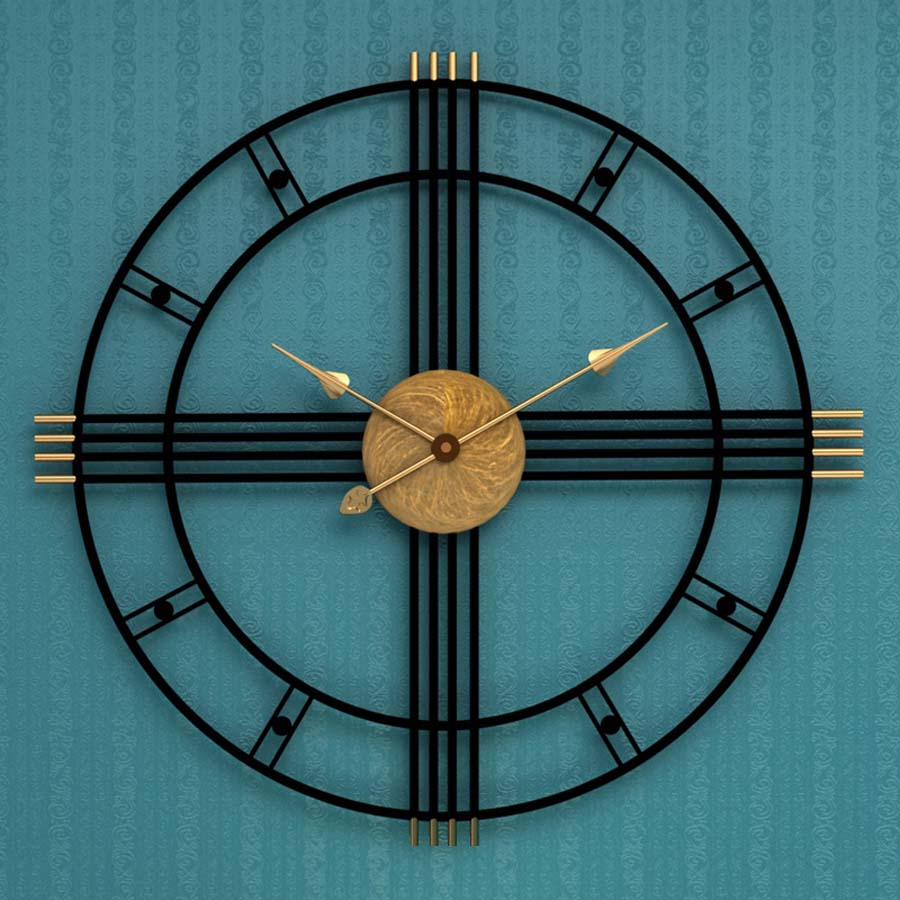 Grand Métal Horloge Murale Design Moderne pour Salon Européen Vintage Rétro Romain Horloges Fer Art Montre Mur Décor À La Maison 50 cm