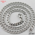 5.5mm stainless steel necklace Cuba chain Figaro chain  sweater chain man male fashion jewelry 20pcs ZX197
