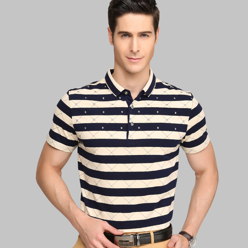 Summer New Men Short Sleeve Pure color Cotton Striped Shirt plus size 5XL 6XL 7XL Casural Brand Men Business T-shirts  fashion