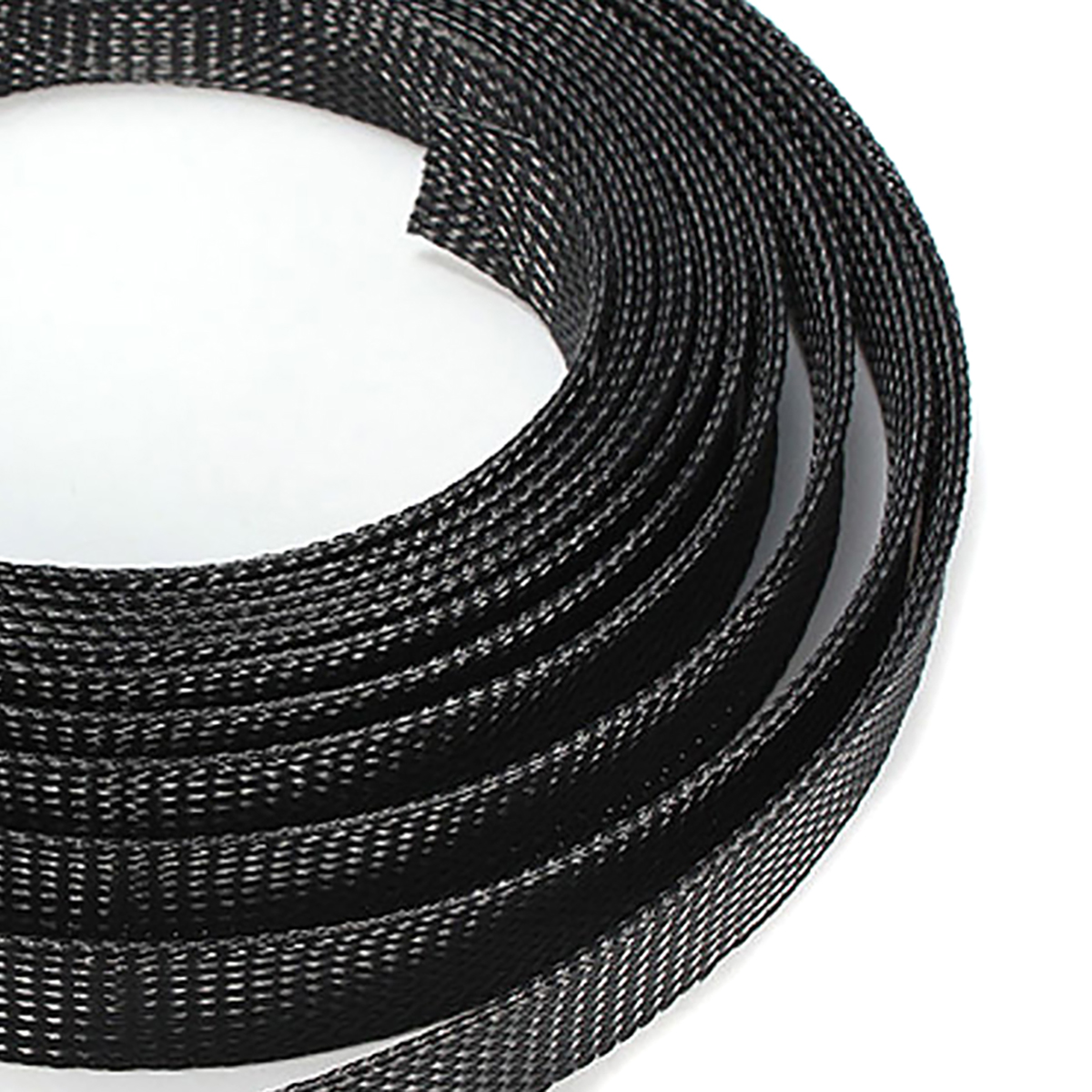 small resolution of black braided wire sleeve mesh protecting pet nylon braided cable sleeve 6 8 10