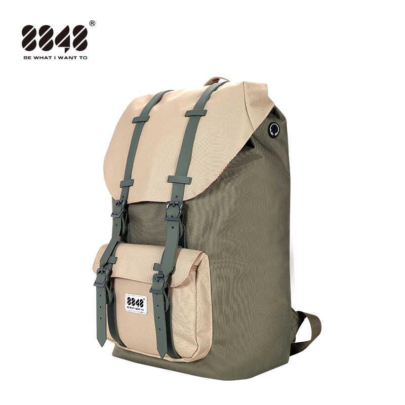 8848 Модные мужские рюкзаки 15,6 ''usb зарядка ноутбук мужской Mochila 20L рюкзак для студентов и школьников женский рюкзак для путешествий 111-006-020