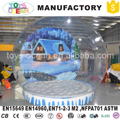 inflatable type giant christmas snow globe with tunnel for sale in inflatable bouncers from toys hobbies on aliexpresscom alibaba group - Large Christmas Snow Globes
