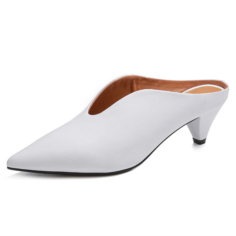 in nero comfort bianco Fedonas Pantofole pelle vera scarpe donna estate Sandali donna a punta Gladiatore primavera UFx67Cq
