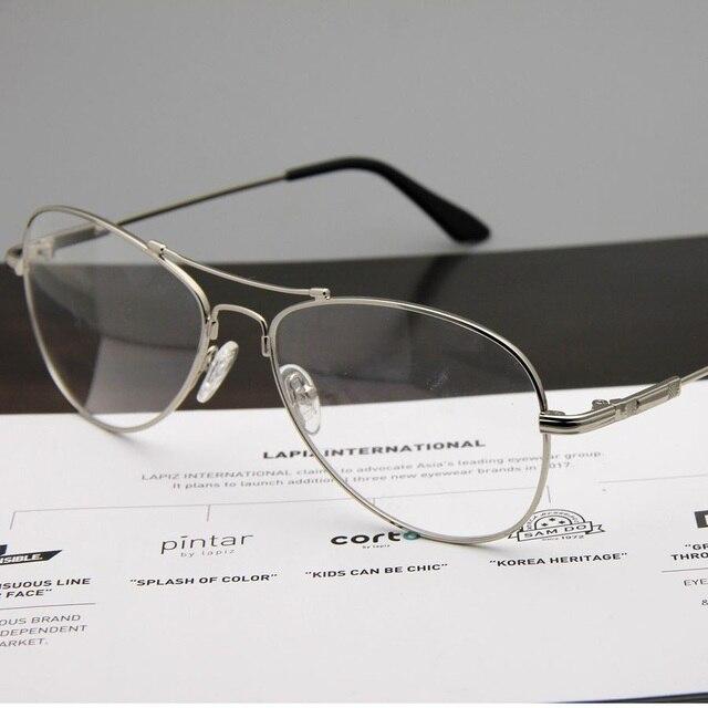 37ab0f14c7cd Cubojue Silver Aviation Glasses Men Women Memory Metal Eyeglasses Frame for  Prescription myopia diopter optical lens male men s