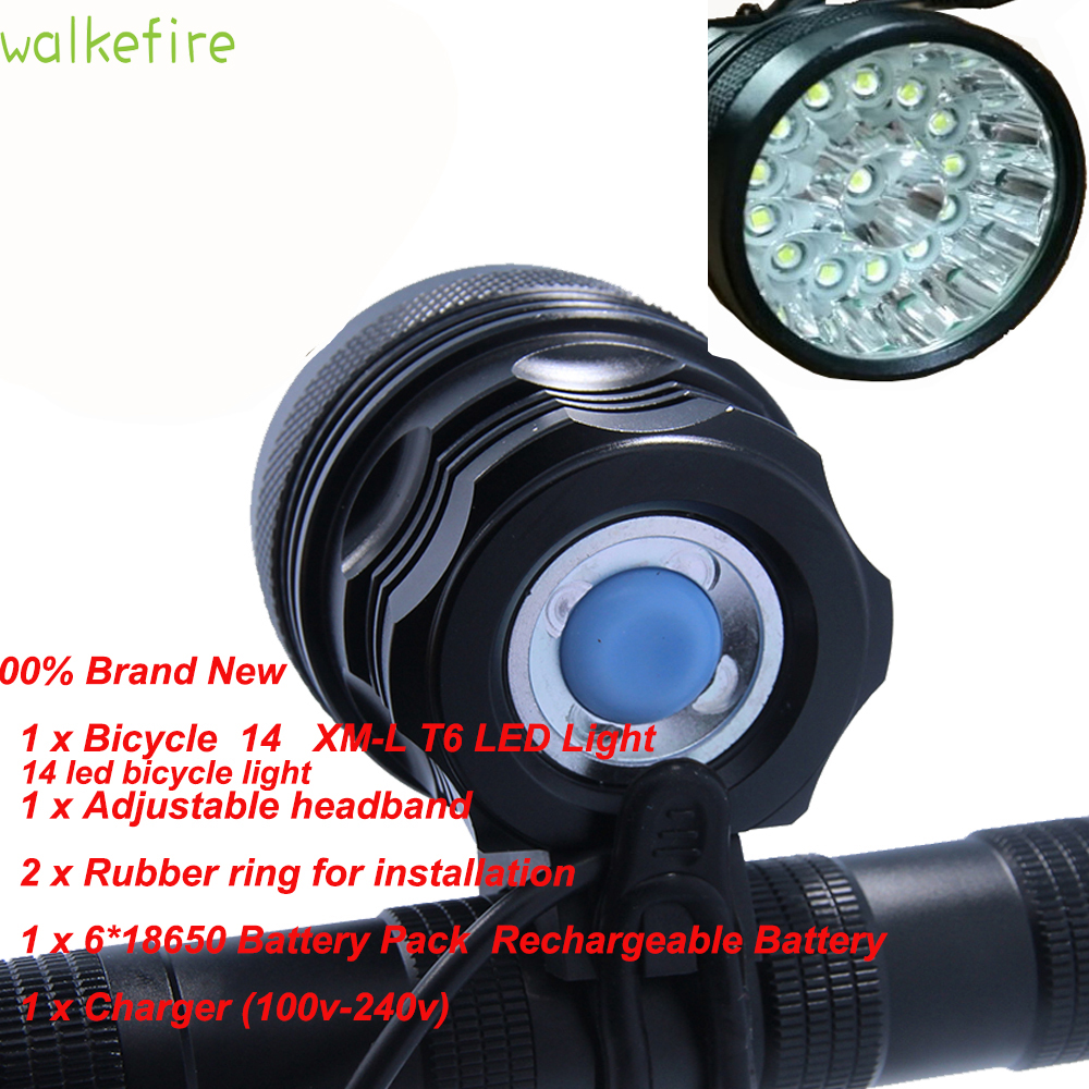 Walkfire Rechargeale 14 x XML T6 LED Bicycle Lights Bike Torch Lamp Luces Bicicletas Accessories +6*18650 Battery + Headband sitemap 46 xml