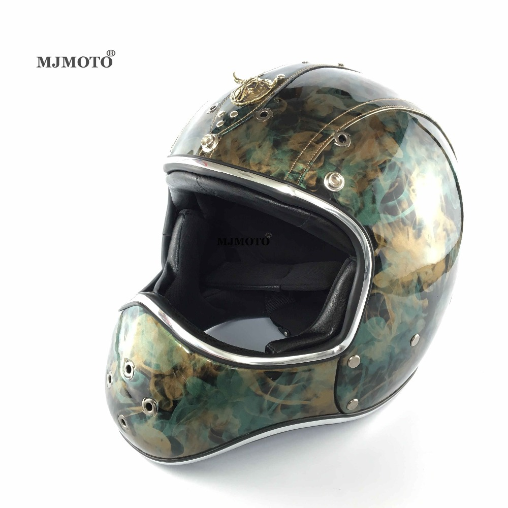Motorcycle For Harley Style Vintage Leather Helmet Full Face Mens Helmet Off-Road Capacetes de Motociclista Casco Moto Open Face