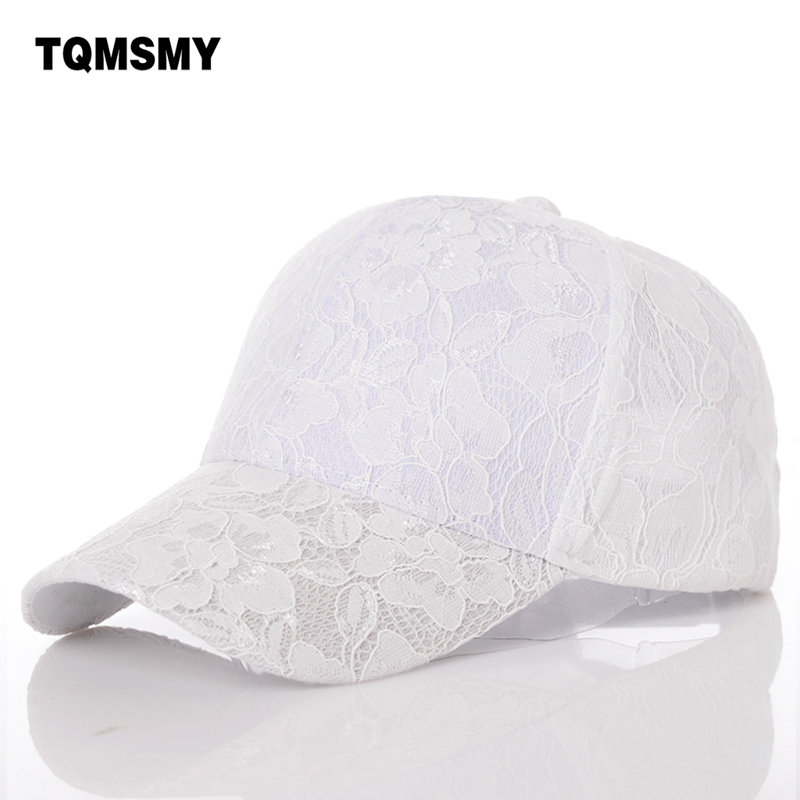 цена на Summer hats for women Baseball Caps girls Sun Hat gorras planas snapback bone Solid color Lace Mesh Casquette hip hop cap women