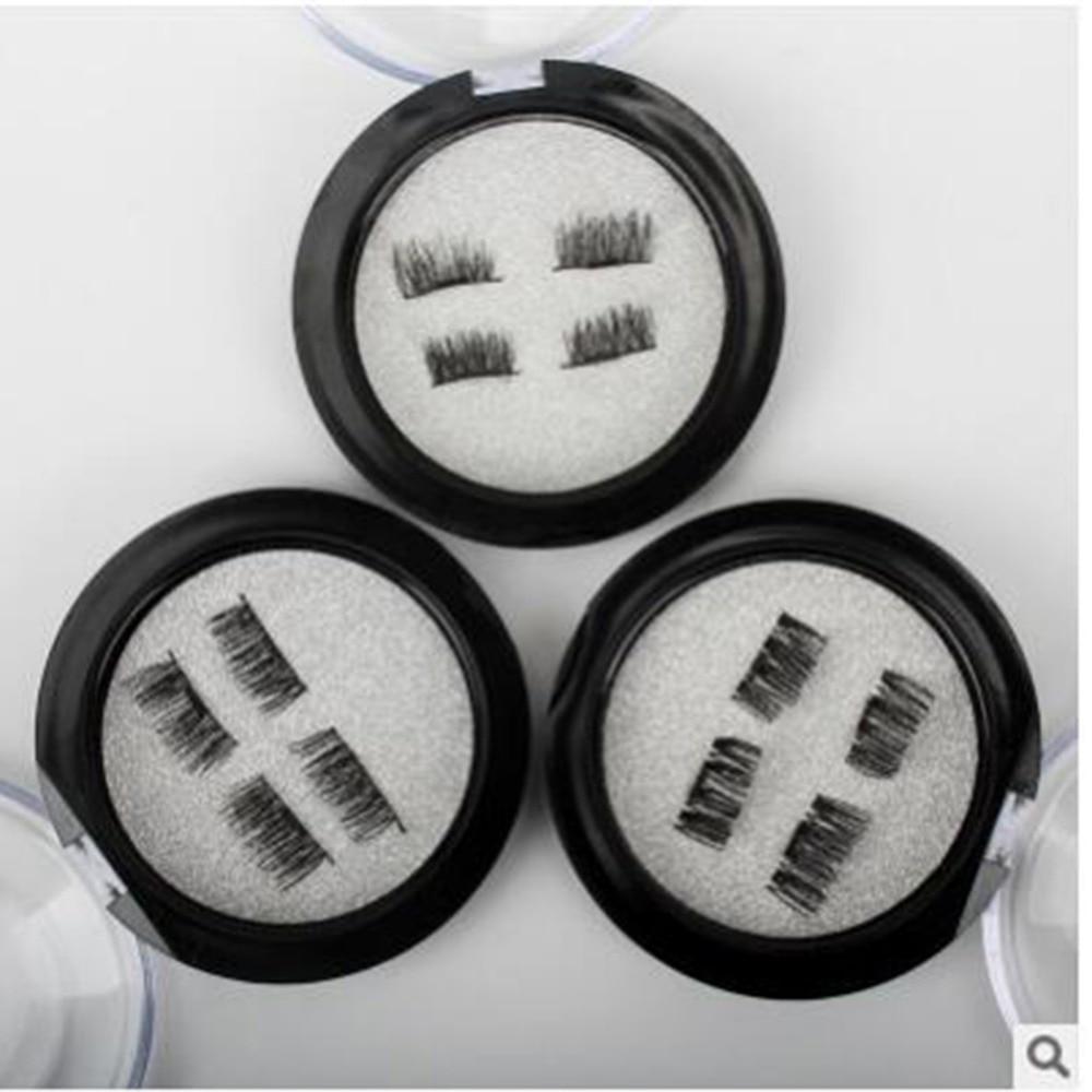 4pcs/Pair 3D Magnetic False Fake Eyelashes Easy To Wear Extension Magnetic Eyelashes Makeup Soft Hair False Eyelashes Dropship