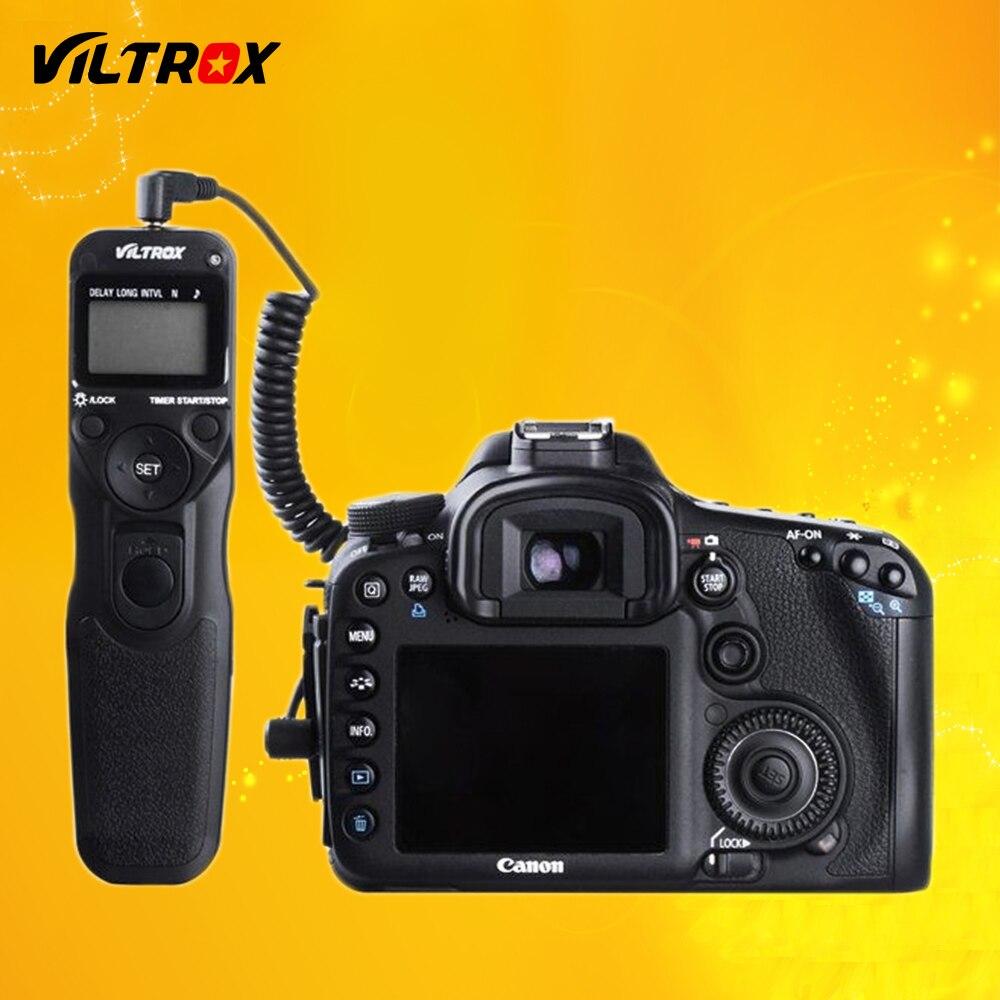 Viltrox mc-c1 LCD temporizador remoto Lanzamiento de obturador cable de control cable para Canon 1300d 760d 750d 800d 600d 650d 60d 77d 80d 100d DSLR