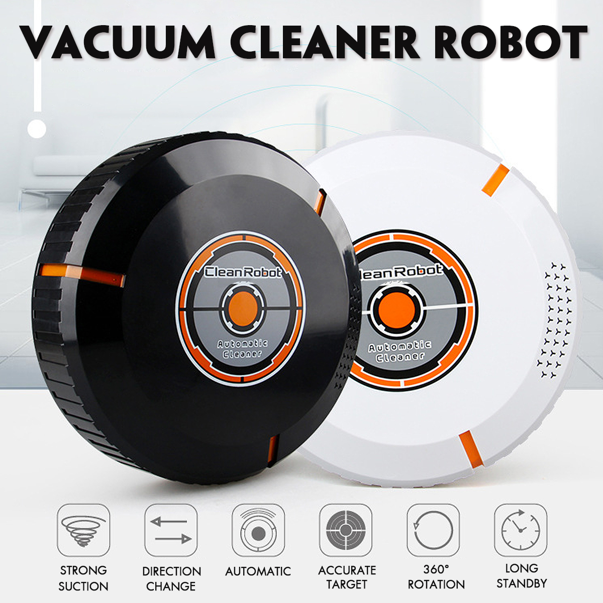 1Pcs Automatic Sweeping Robot USB Rechargeable Vacuum Cleaner Smart Electric Wireless Vacuum Cleaner Robot adoolla mini smart automatic electric vacuum cleaner usb powered sweeping robot quiet robot vacuum cleaner for home