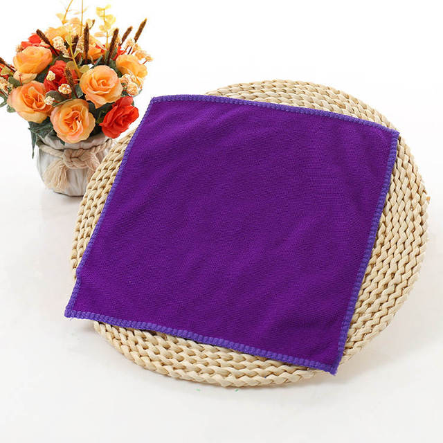 1pcs 25*25cm Solid Color Soft Square Face Towel Microfiber Car Cleaning Hand Bathroom Towels badlaken toalla Toallas Mano 42177