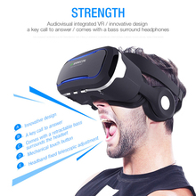 VR Shinecon 4.0 3D Cardboard Glasses VR Casque Virtual Reality 3D VR Headsets Cardboard Glasses For Iphone For Samsung Smarphone