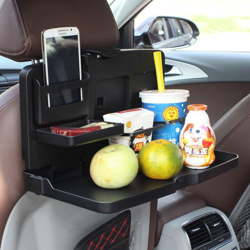 Auto plié plateau de table de voiture universel à manger bureau plateau de siège de voiture porte-boissons ABS forte en plastique auto accessoires cadeau 1503