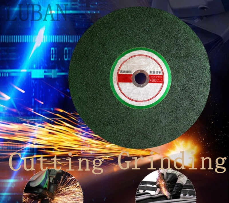 400 * 3.2 * 32 mm stainless steel special resin cutting discs reinforced mesh wheel blade Metal Cutting Tool durable LUBAN wlxy wl 7232 steel cutting discs connecting rod set silver