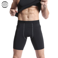2017 Hot Men Quick Dry Running Shorts Gym Fitness Jogger Soccer Elastic Tights Basketball Training Compression