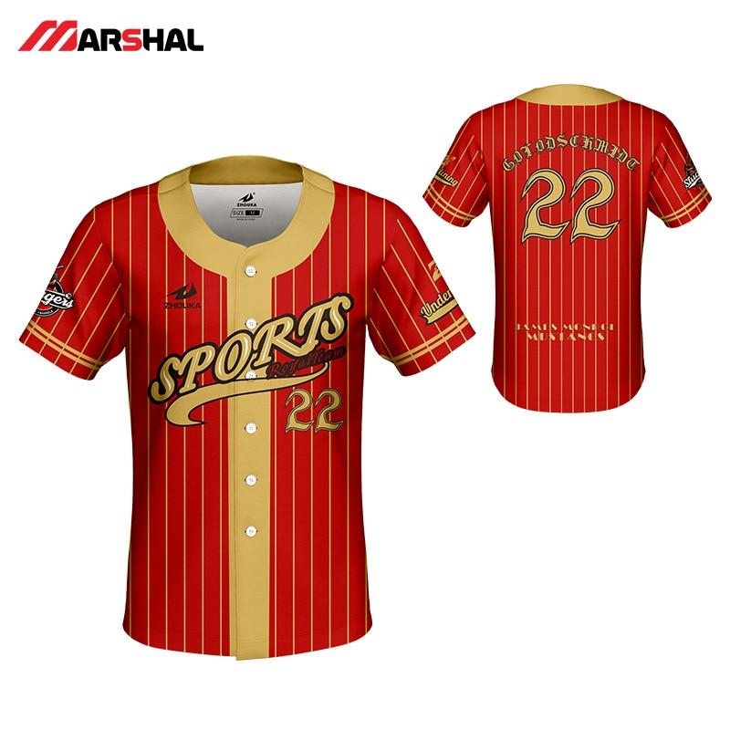 2019 new design mens baseball shirts breathable baseball team shirt custom sublimation blank baseball jerseys