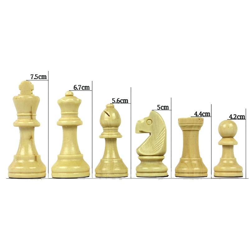High Grade Coffee Lattice Books Shape Folding Wooden Table Box Chess Set King 75mm Wood Solid Chessman Board Games Children Gift 3