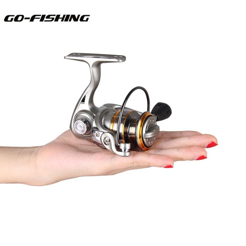 Go-Fishing MN150 Mini in Palm 5 Bearings Spinning Reel 5.2:1 Ratio Nylon 66 Material Mini Ice Fishing Rock & Lure Fishing Tackle бутылка 0 4 л asobu ice t 2 go фиолетовая it2go violet