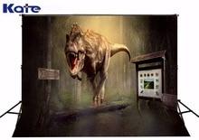 Kate impressão digital fundo para fotografar crianças dinossauro tiranossauro rex floresta pano de fundo