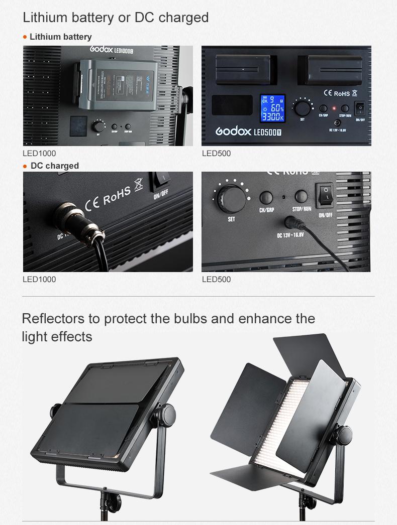 Godox LED500 LED Video Light (4)