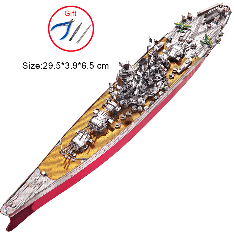 Piececool BATTLESHIP YAMATO 3D Metal Assembly Model Educational Toys Collectional Jigsaw Puzzle Creative Gift For Adult Children educational toys five styles cartoon dinosaur 3d jigsaw puzzle assembly model paper building game creative children gift 1 pc