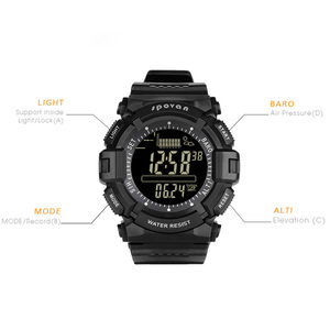 Image 2 - Montre homme numérique 2019 Sport Spovan montre bracelet noir rétro éclairage 2019 étanche qualité militaire A Erkek Kol Saati forte