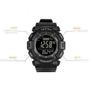 Image 2 - Spovan 2019 Sport Digital Mann Uhr 2019 Smart Zurück Licht Schwarz Armbanduhr Wasserdicht Military Qualität EINE Starke Erkek Kol Saati