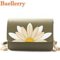 2017 Baellerry Creative Daisy Flower Printing Women S Handbag Fashion Lady S Chain Shoulder Bag Floral