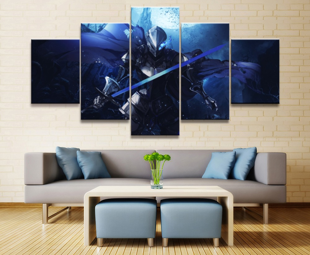 Dark Knight Anime Modern Painting Wall Art Canvas 5 Piece HD Print For Living Room Decor Artwork