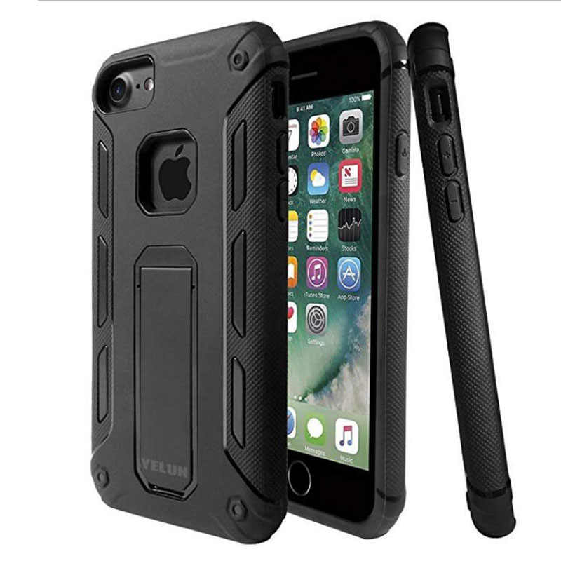 YELUN HEAVY DUTY SHOCK PROOF BUILDERS HARTE FALL ABDECKUNG MIT STAND FÜR IPHONE 7 8 PLUS shell Capa
