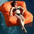 Orange zwemmen zwembad bean bag stoel, 2 kamer seat Extra breed waterdichte zitzak sofa stoel, outdoor grote ruimte meubels set