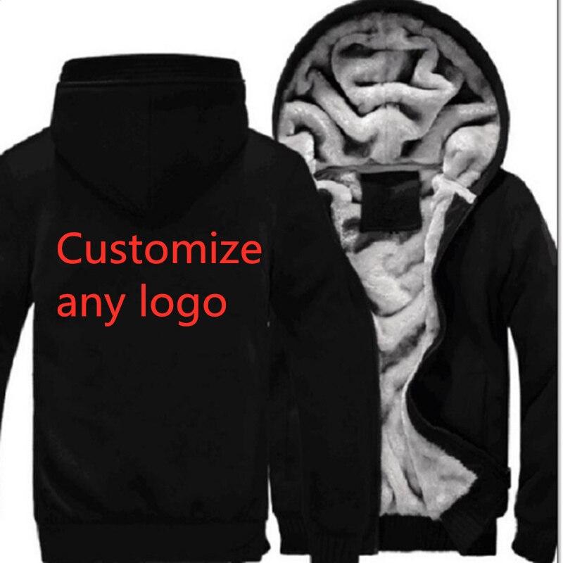 Cualquier logotipo personalizado para los hombres espesar sudaderas con capucha Termal para hombres ropa deportiva de lana caliente gruesa Sudadera con capucha sudaderas ropa deportiva Jackes