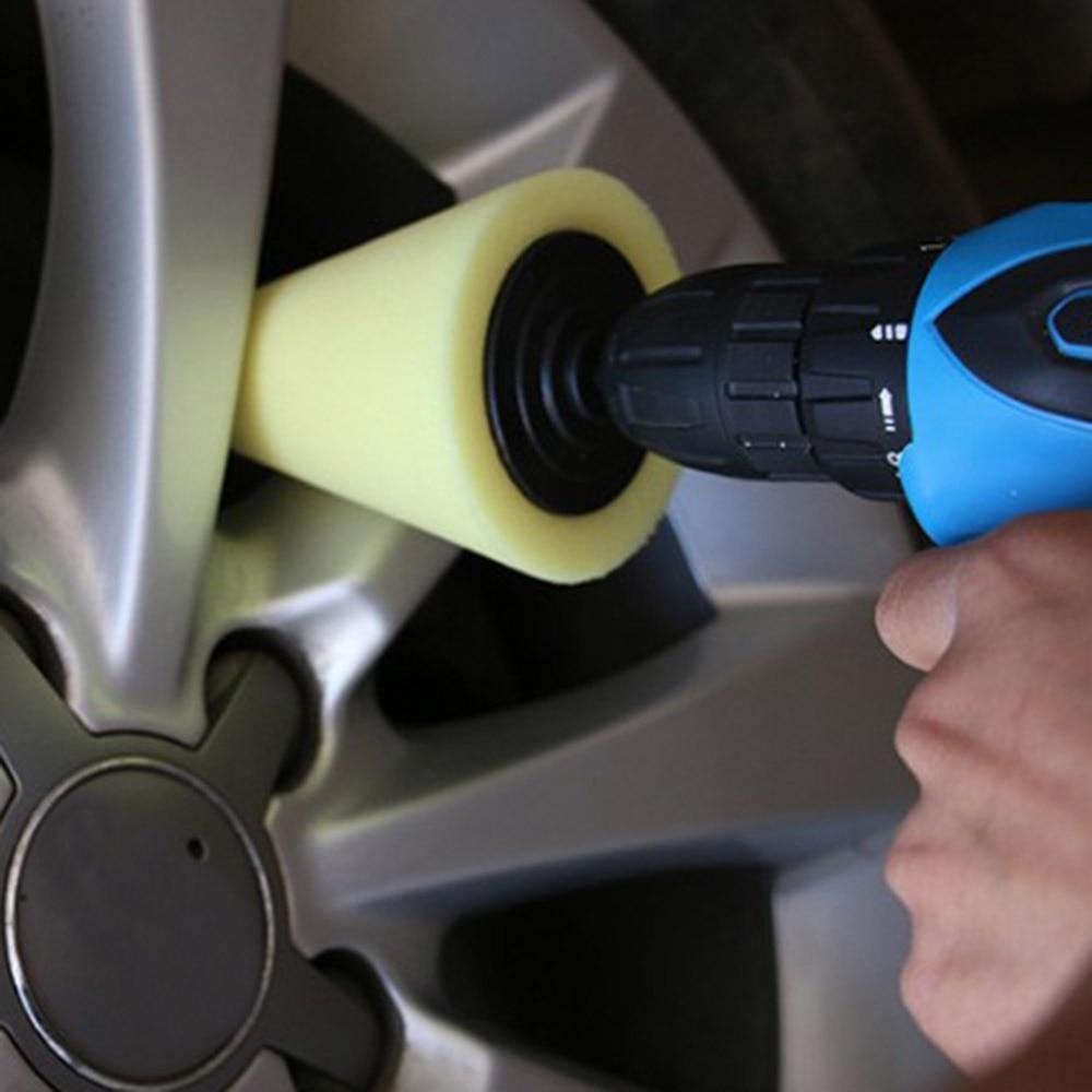 Car Wheel Rims Polishing Hub Tool Cone Polishing Foam Pad Cleaning Burnish AL