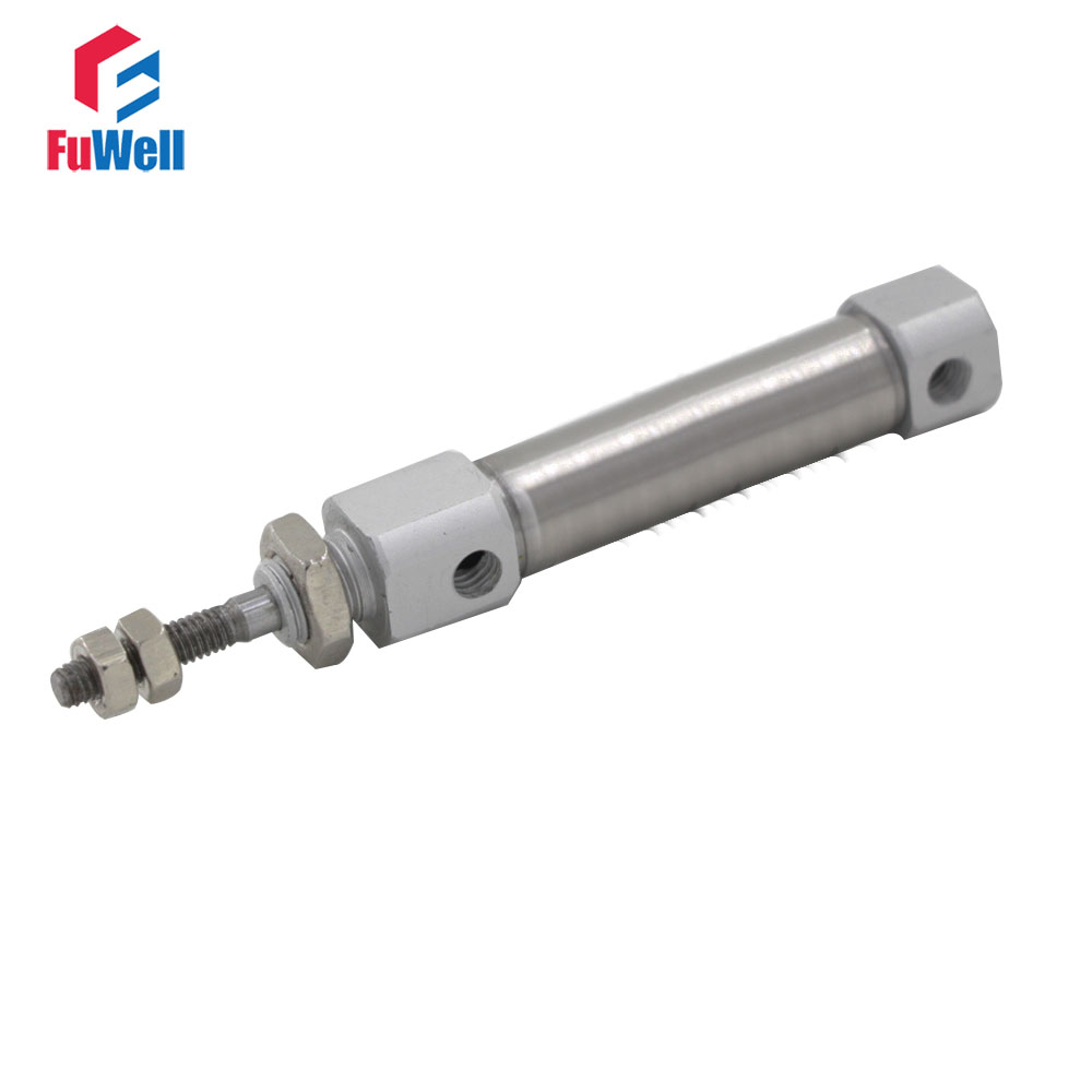 CDJ2B Type Pneumatic Cylinder Double Acting Single Rod 10mm Bore 60/75/90/100/125/150mm Stroke Air Cylinder tn10x45 s two axis double bar new air cylinder double shaft double rod 10mm bore 45mm stroke pneumatic cylinder