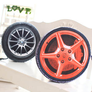Plush-Cushion 3D with Filling Simulate-Tire 1PC 38CM Automobile Personalise