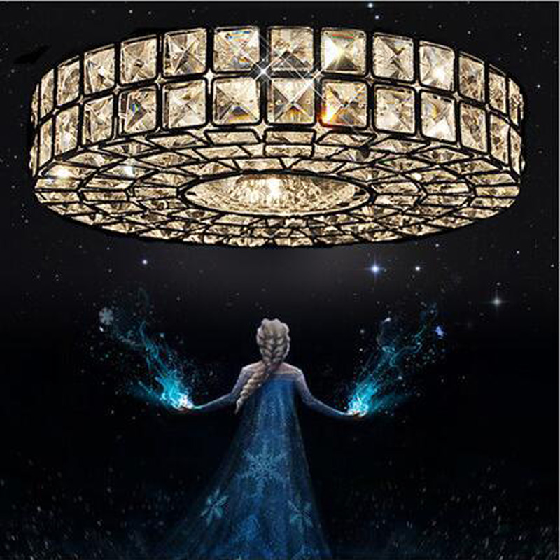T Lucury Circular Crystal Ceiling Light Modern Creative LED Super bright Lamps For Foyer Corridor Balcony Bedroom DHL Free
